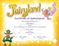 Express Publishing ELT Fairyland Certificate of Achievement, This is an example for a certificate issued by Express Publishing ELT