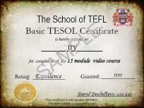 Udemy TEFL Basic Tesol, This is an example certificate issued by The School of TEFL
