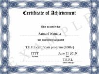CSGP Examination, This is an example certificate issued by CSGP Examination