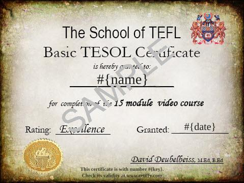 certificates from this template - Tefl Certificate Template