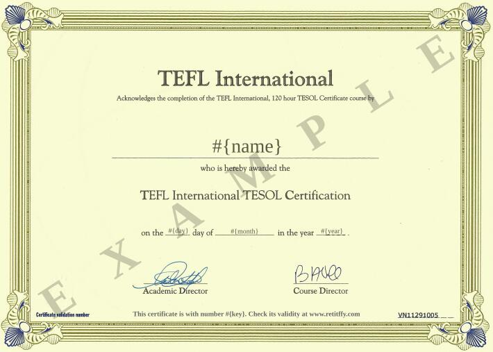 Rettify for Tefl certificate template